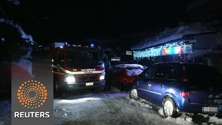 Relatives await fate of loved ones caught in hotel avalanche - REUTERSVIDEO
