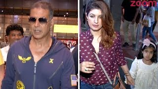 Akshay Kumar And Wife Twinkle Khanna Spotted At The Airport - ZOOMDEKHO