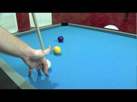 Trick Pool Shot - Masse billiard shot - Billiards Lessons Wilmington NC