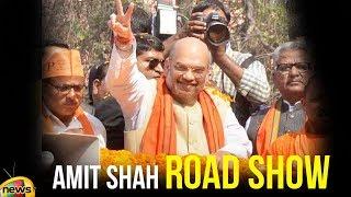Amit Shah road show from Ekatma Parisar to Gas Pump Chowk in Raipur | Mango News - MANGONEWS