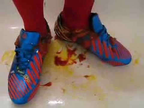 Messy Soccer Shoes