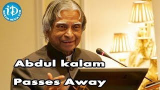 Former President A. P. J. Abdul Kalam Passes Away @ 83 - IDREAMMOVIES