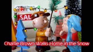 Royalty Free :Charlie Brown Walks Home in the Snow