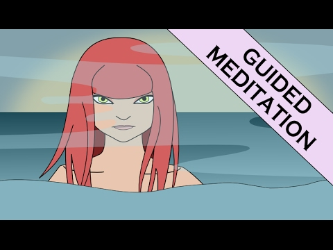 Guided Imagery Meditation of Swimming in Water for Relaxation and Inner Peace (Water Sounds)