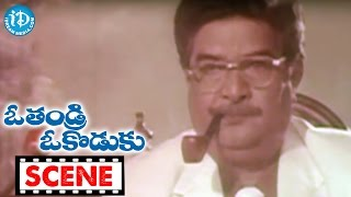 O Thandri O Koduku Movie Scenes - Kaikala Satyanarayana Meets Vinod Kumar    Dasari Narayana Rao - IDREAMMOVIES