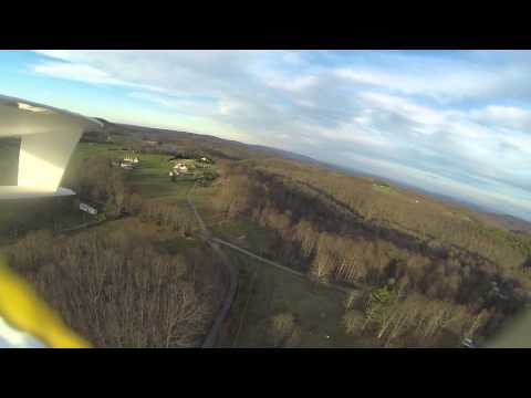 Flying the MikeysRC Scratchbuild Foamie FPV over the house