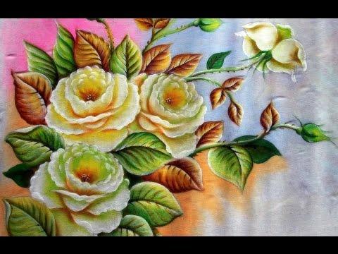 Próxima aula :Como Pintar Rosas Brancas - Pintura em tecido!
