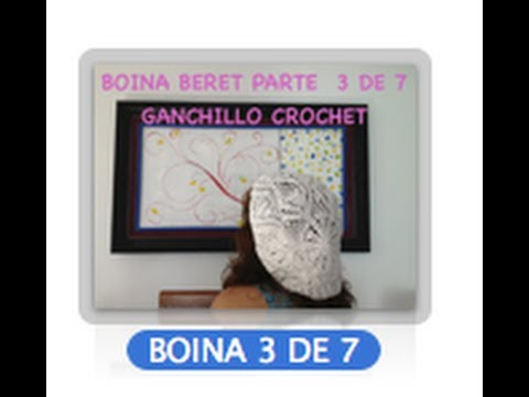 3 DE 7 COMO TEJER GORRO BOINA DISEO PIAS GANCHILLO CROCHET, DIY TUTORIAL