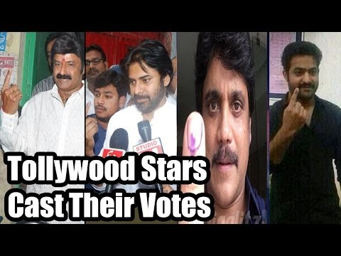 Tollywood Celebs Cast their Votes - 2014 Elections