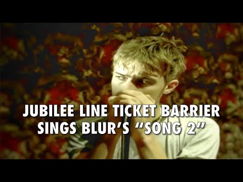 Jubilee Line Ticket Barrier Sings Blur's Song 2