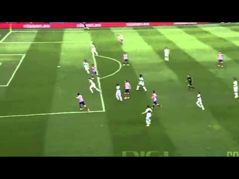 Filipe Luis Amazing BackHell Pass to Diego Costa ~ Atletico Madrid vs Elche  18 04 2014  DH