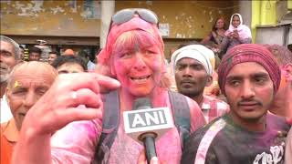 18 Mar, 2019 - Holi, festival of colours, Mathura, Vrindavan, Varanasi, India - ANIINDIAFILE