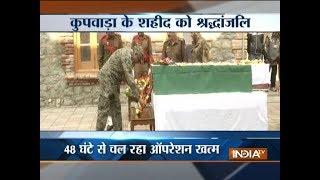 Army pays tribute to Kupwara martyr Deepak Thusoo in Srinagar - INDIATV