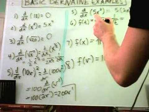 Basic Derivative Examples