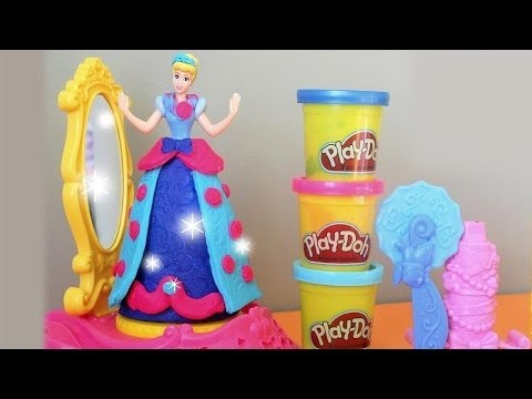 Play-Doh Disney Princess Spin & Style Cinderella Set - Hasbro- MsDisneyReviews