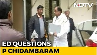 P Chidambaram Being Questioned By Probe Agency In INX Media Case - NDTV