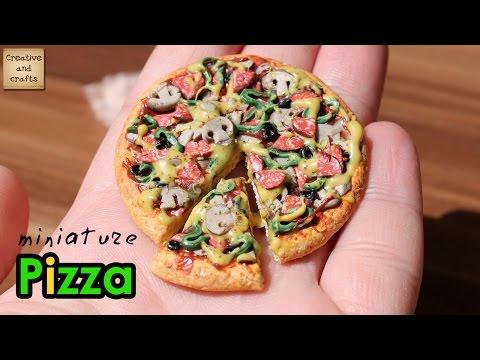 """Еда """"Пицца"""" из полимерной глины,  кукольная миниатюра, мастер-класс"""