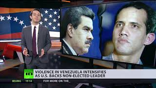 Violence in Venezuela intensifies as US backs non-elected leader - RUSSIATODAY