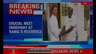 HDK meets Rahul Gandhi in New Delhi at his residence - NEWSXLIVE