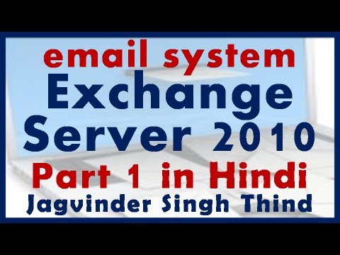 Exchange Server 2010 Part 1 - email System An Introduction in Hindi by JagvinderThind