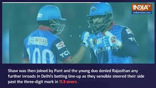 IPL 2019, RR vs DC: Rishabh Pant fires Delhi Capitals to six-wicket win over Rajasthan, go top of t - INDIATV