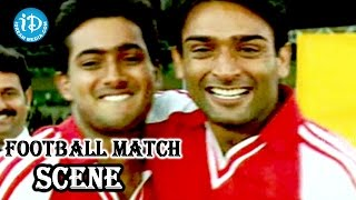 Nee Sneham Movie - Jatin Garewal, Uday Kiran Introduction Foot Ball Match Scene - IDREAMMOVIES
