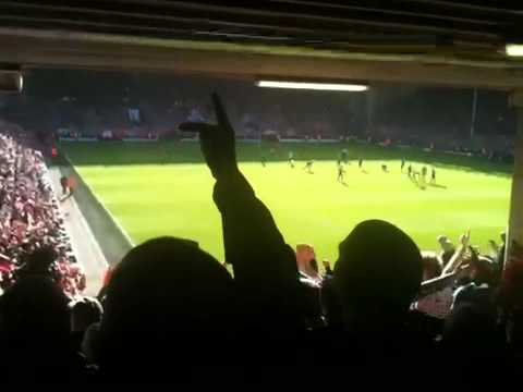 Stoke City fans out sing Liverpool fans 