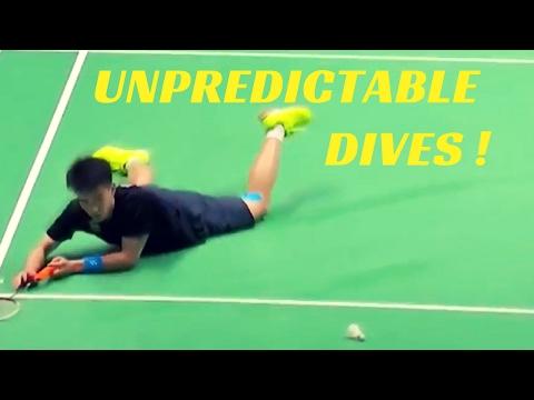 Most UNPREDICTABLE badminton dives !
