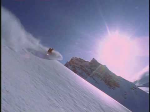 Snowboarding and base jumping
