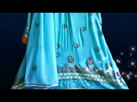 Designer Dresses - Blue & Brilliance  - Pakistani/Indian fashion