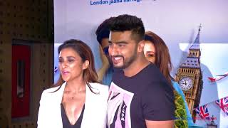 Parineeti Chopra Doesn't Want To Take A Picture With Arjun Kapoor At Namaste England Wrap Party - ZOOMDEKHO