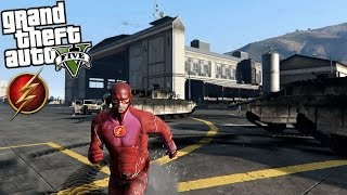 GTA 5 THE FLASH Mod - RUNNING ON WATER