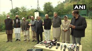 गुपकर नेताओं संग बैठक के बाद फारुख अब्दुल्ला बोले