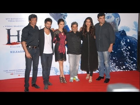 Haider Movie Trailer Launch | Shahid Kapoor, Tabu & Shraddha Kapoor