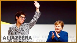 🇩🇪German CDU elects Kramp-Karrenbauer as new party leader l Al Jazeera English - ALJAZEERAENGLISH