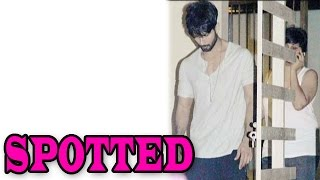 Shahid Kapoor clicked outside his new Bungalow | Bollywood News