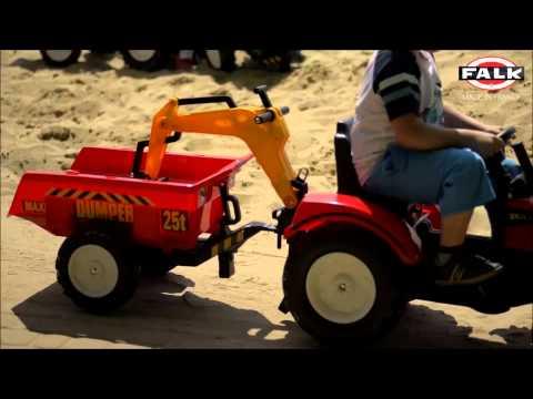 Traktory, ciągniki Ranch Trac z zestawem do piasku i koparką 4-7 lat FALK