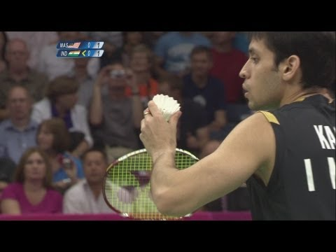 Badminton Men's Singles Quarterfinals - Malaysia v India Full Replay -- London 2012 Olympic Games