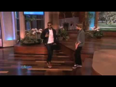 Justin Bieber & Usher Dancing on Ellen My girl wants me on The Ellen DeGeneres Show Attempt 4