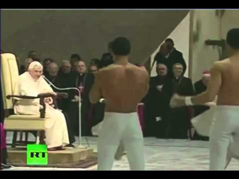 Male Acrobats Perform for The Pope