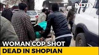 Special Police Officer Shot Dead Outside Her House In J&K's Shopian - NDTV