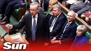 Gove stands up for May during No Confidence debate - THESUNNEWSPAPER