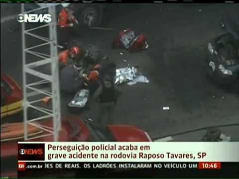 Rodovia Raposo Tavares - Perseguição Policial Termina Em Grave Acidente