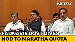 Months After Massive Protest, Marathas To Get Reservation In Maharashtra - NDTV