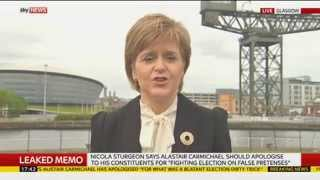 Nicola Sturgeon Says Former Minister Should Consider Position Over Leaked Memo - SKYNEWS