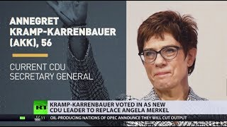 Kramp-Karrenbauer voted in as new CDU leader to replace Merkel - RUSSIATODAY