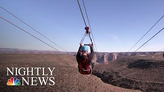 Grand Canyon Offers Zip Lining For First Time Ever | NBC Nightly News - NBCNEWS