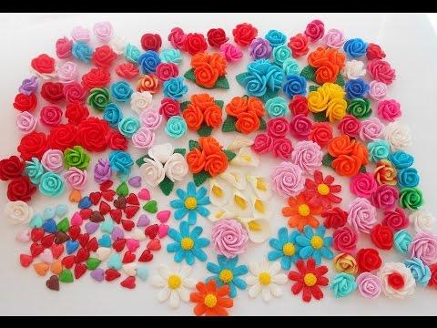 Лепка мелких цветов ромашки, каллы из полимерной глины