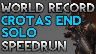 Crota Solo Speedrun WR! 8:04 on Titan