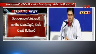 EC CEO Rajat Kumar Speaks to Media Over Telangana Poll Percentage | CVR News - CVRNEWSOFFICIAL